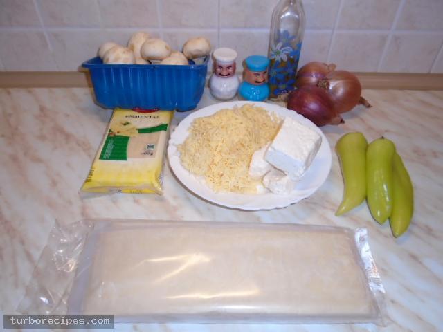 Μανιταρόπιτα με φύλλο σφολιάτας - Υλικά συνταγής