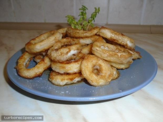 Τηγανιτά καλαμάρια ροδέλες