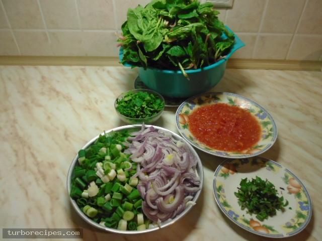 Σουπιές με σπανάκι - Βήμα 1