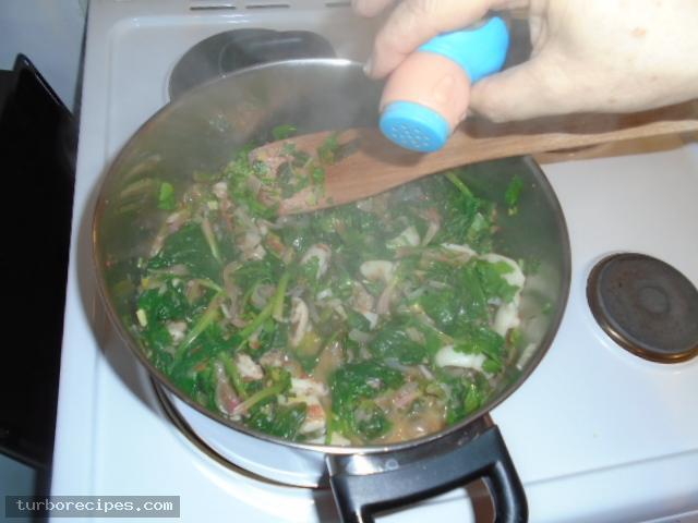 Σουπιές με σπανάκι - Βήμα 14
