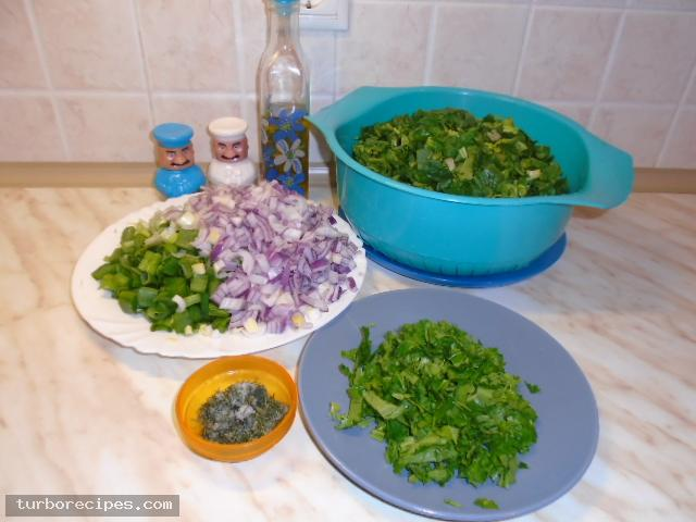 Νηστίσιμα σπανακοπιτάκια με σπιτική ζύμη - Βήμα 2