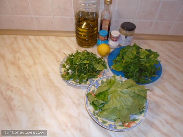 Πράσινη σαλάτα με σως ταχινιού - Υλικά συνταγής