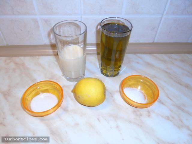 Νηστίσιμη μαγιονέζα με αγουρέλαιο - Υλικά συνταγής