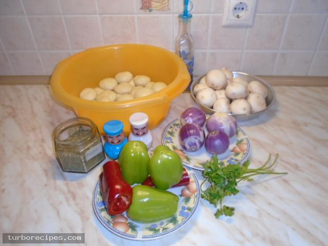 Νηστίσιμα μανιταροπιτάκια - Υλικά συνταγής