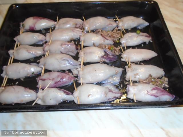Καλαμαράκια γεμιστά με ρύζι - Βήμα 20