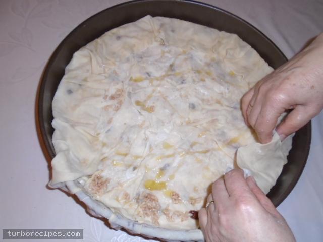 Ρυζόπιτα με σταφίδες - Βήμα 23