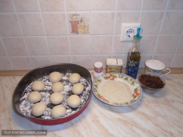 Ρυζόπιτα με σταφίδες - Υλικά συνταγής