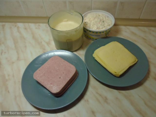 Κρέπες με γκούντα και ζαμπόν - Υλικά συνταγής