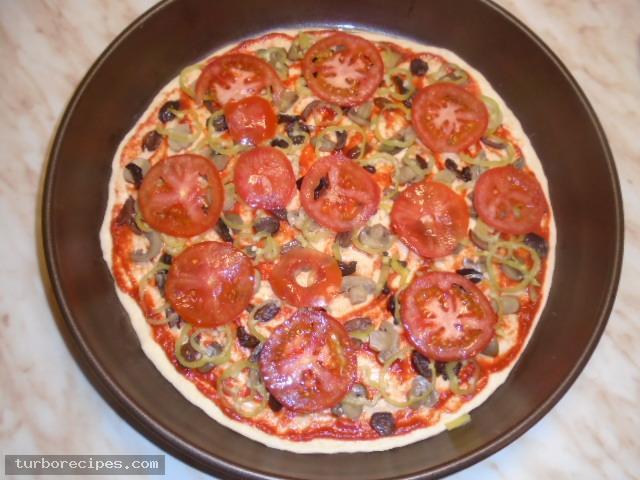 Πίτσα για χορτοφάγους - Βήμα 10