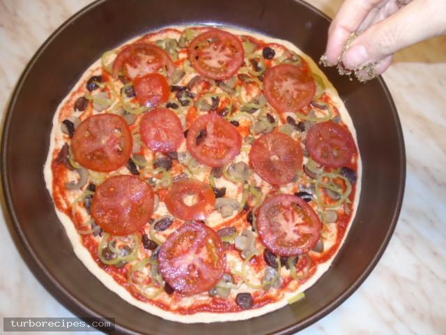 Πίτσα για χορτοφάγους - Βήμα 12