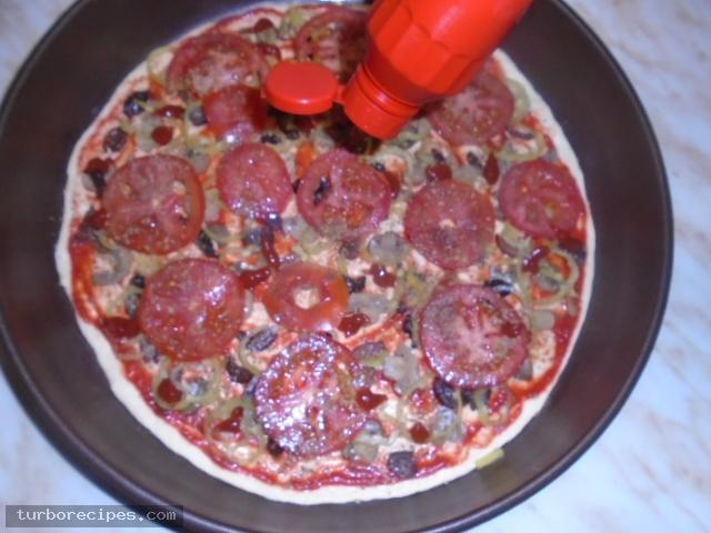 Πίτσα για χορτοφάγους - Βήμα 13