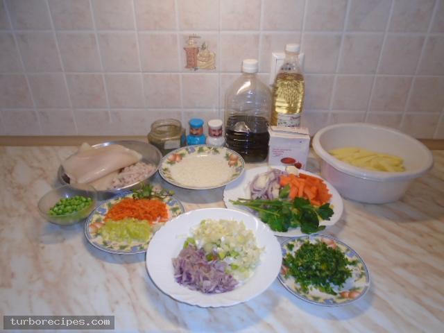 Θράψαλα γεμιστά στο φούρνο - Υλικά συνταγής