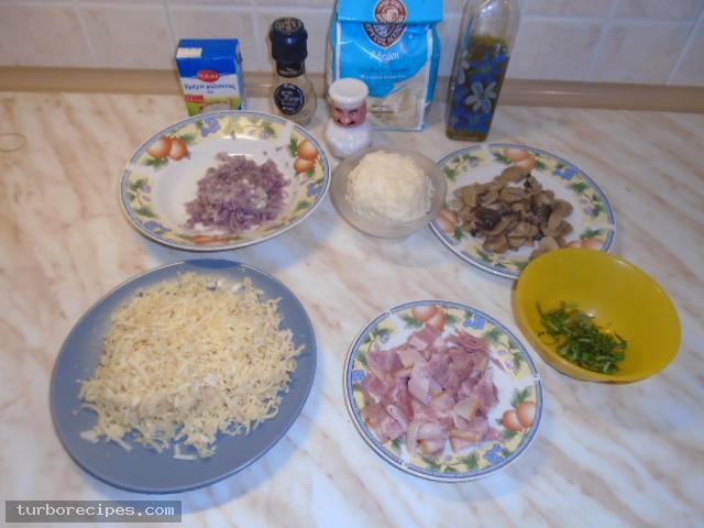 Πίτσα καρμπονάρα - Υλικά συνταγής