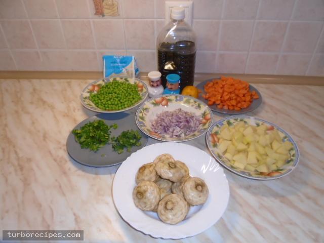 Αγκινάρες με λαχανικά - Βήμα 1