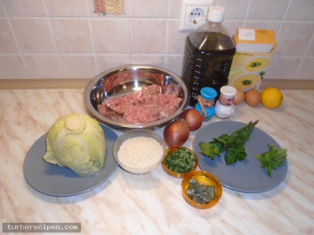 Παραδοσιακοί λαχανοντολμάδες - Υλικά συνταγής