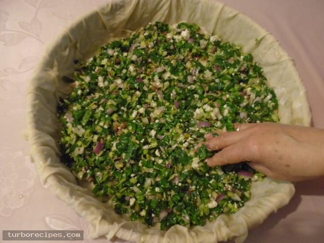 Παραδοσιακή χορτόπιτα - Βήμα 19