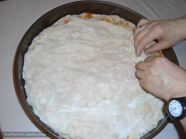 Παραδοσιακή κολοκυθόπιτα με αυγά - Βήμα 28