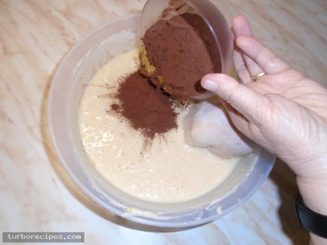 Κέικ κακάο χωρίς αυγά - Βήμα 10