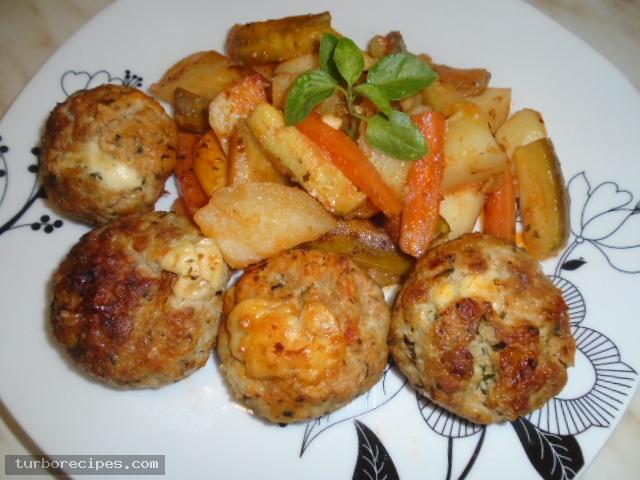 Μπιφτέκια γαλοπούλας γεμιστά με τυρί - Βήμα 26