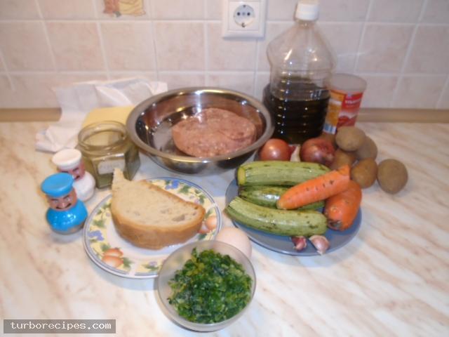 Μπιφτέκια γαλοπούλας γεμιστά με τυρί - Υλικά συνταγής