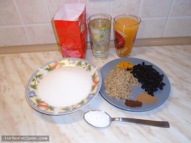 Νηστίσιμη φανουρόπιτα - Υλικά συνταγής