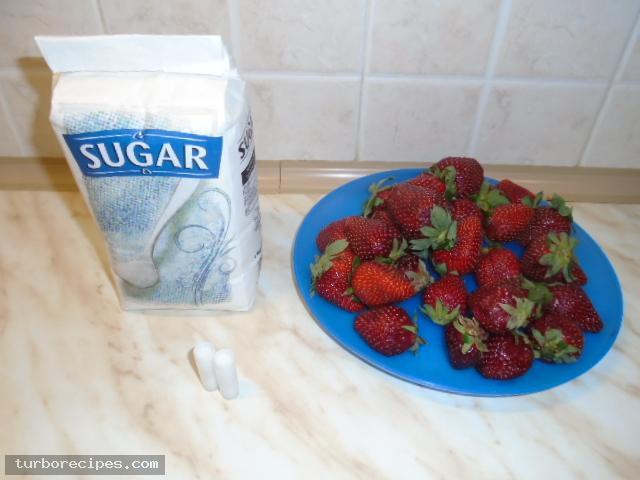 Μαρμέλαδα φράουλα - Υλικά συνταγής