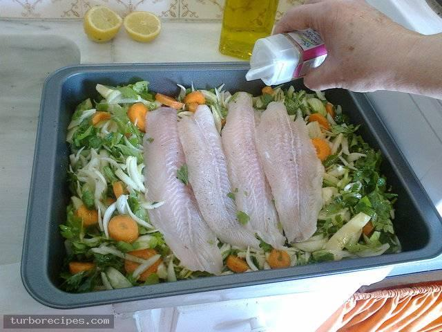 Φιλέτα βακαλάου στο φούρνο - Βήμα 11