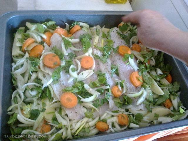 Φιλέτα βακαλάου στο φούρνο - Βήμα 15