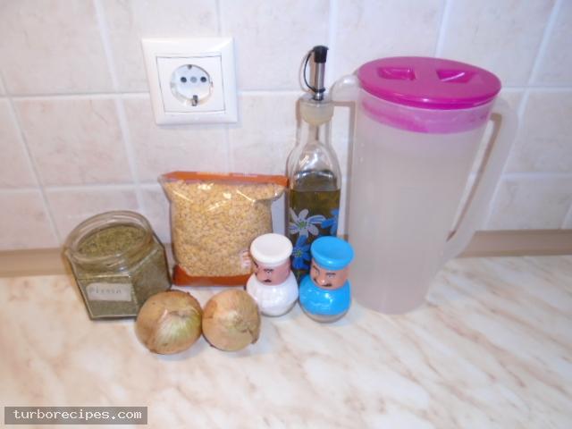 Φάβα με κρεμμύδια και κάπαρη - Υλικά συνταγής
