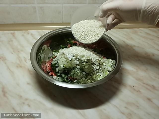 Ντολμαδάκια με κιμά και αμπελόφυλλα - Βήμα 7