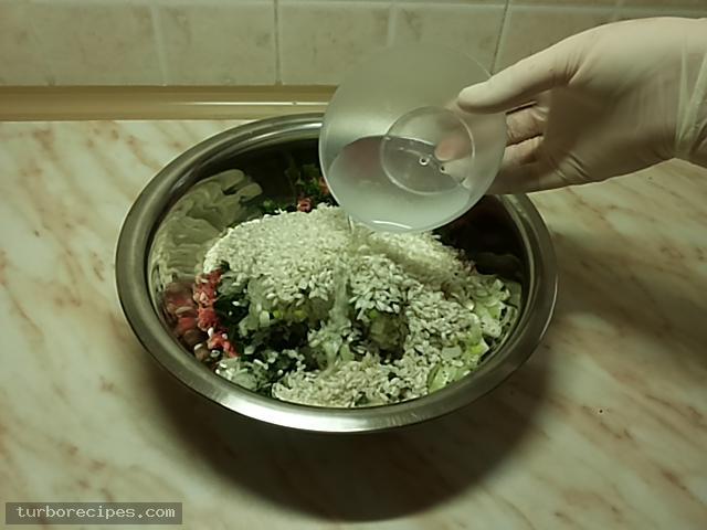 Ντολμαδάκια με κιμά και αμπελόφυλλα - Βήμα 8