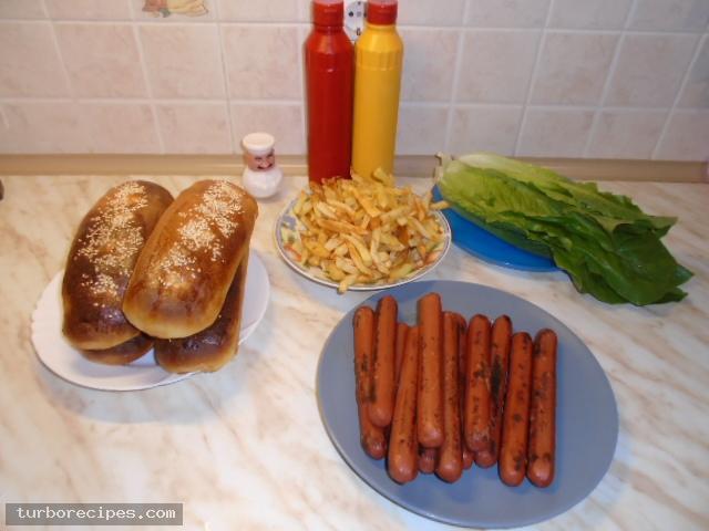 Σπιτικά hot dog - Υλικά συνταγής