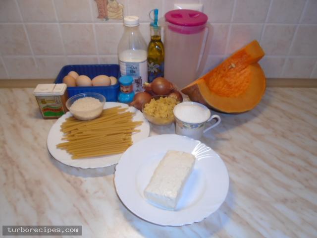 Κολοκυθόπιτα με μακαρόνια και τυρί - Υλικά συνταγής