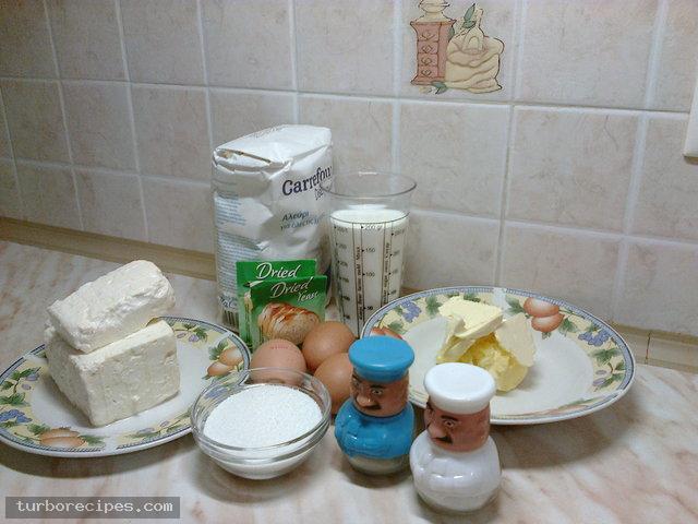 Τυροψωμάκια - Υλικά συνταγής