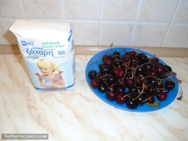 Μαρμελάδα κεράσι - Υλικά συνταγής