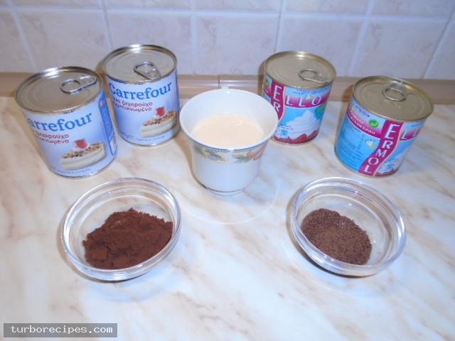 Παγωτό Σικάγο χωρίς παγωτομηχανή - Υλικά συνταγής
