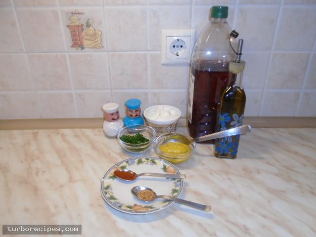 Σάλτσα μουστάρδας - Υλικά συνταγής