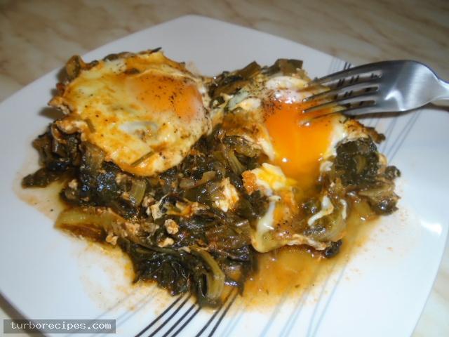 Αυγά ποσέ με χόρτα - Βήμα 18