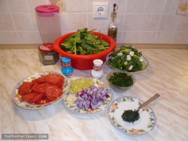 Μαυρομάτικα φασόλια με σπανάκι στο φούρνο - Βήμα 1