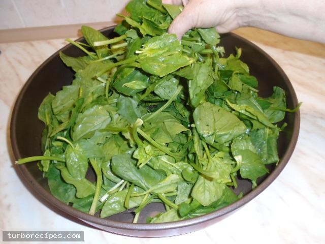 Μαυρομάτικα φασόλια με σπανάκι στο φούρνο - Βήμα 7