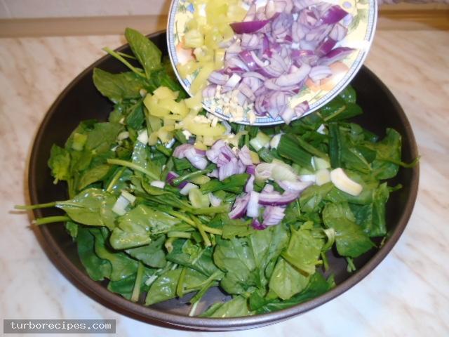 Μαυρομάτικα φασόλια με σπανάκι στο φούρνο - Βήμα 8