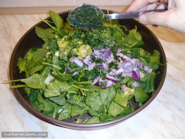 Μαυρομάτικα φασόλια με σπανάκι στο φούρνο - Βήμα 9