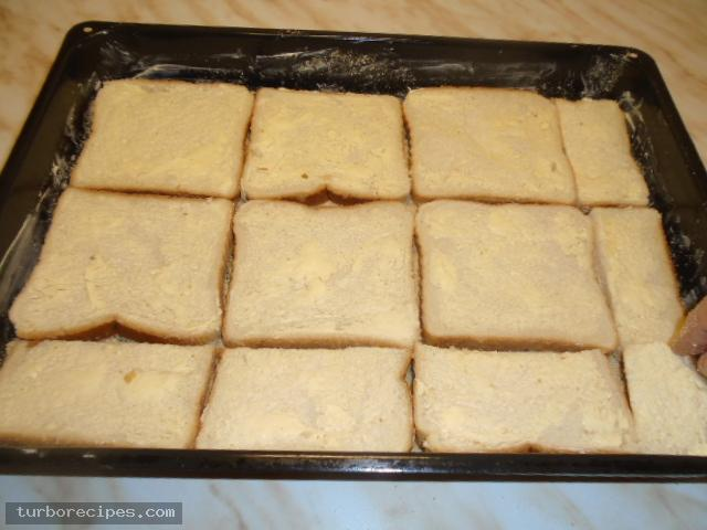 Σουφλέ με ψωμί του τοστ - Βήμα 5