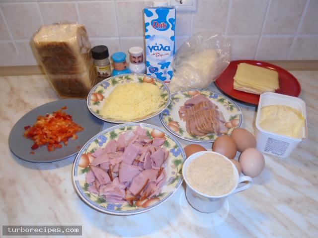 Σουφλέ με ψωμί του τοστ - Υλικά συνταγής