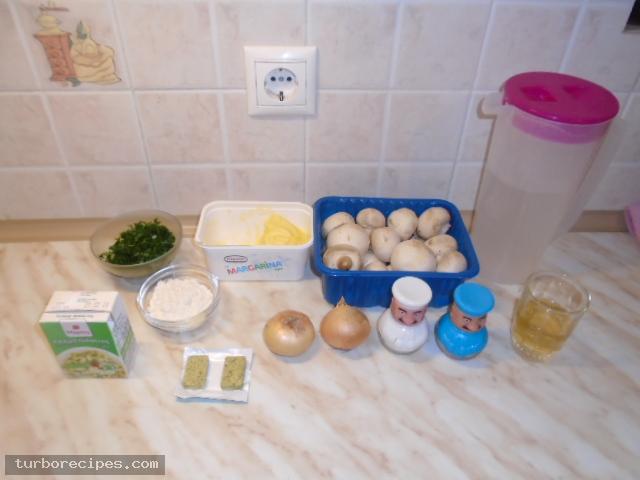 Νηστίσιμη μανιταρόσουπα - Υλικά συνταγής
