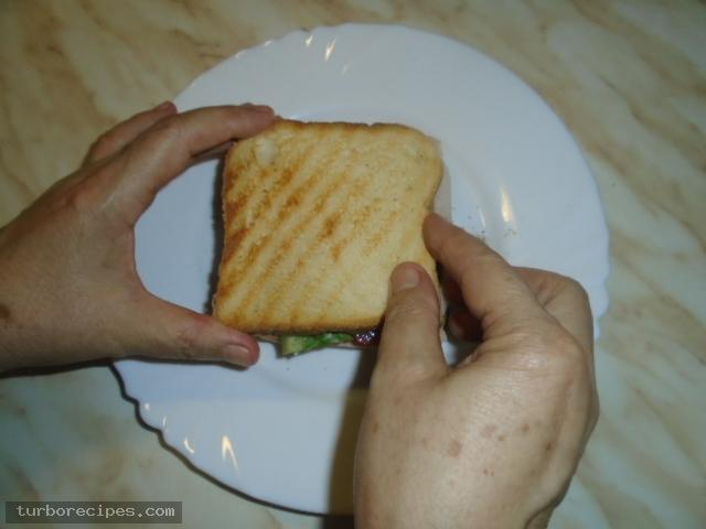 Σπιτικό κλαμπ σάντουιτς - Βήμα 13