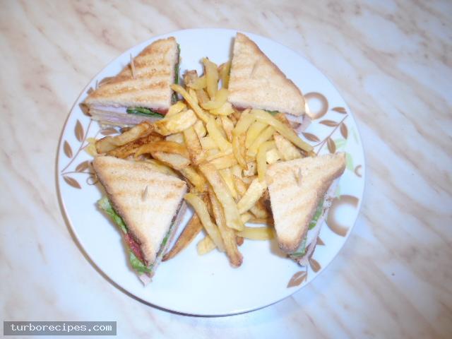 Σπιτικό κλαμπ σάντουιτς - Βήμα 16