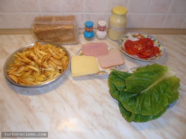 Σπιτικό κλαμπ σάντουιτς - Υλικά συνταγής