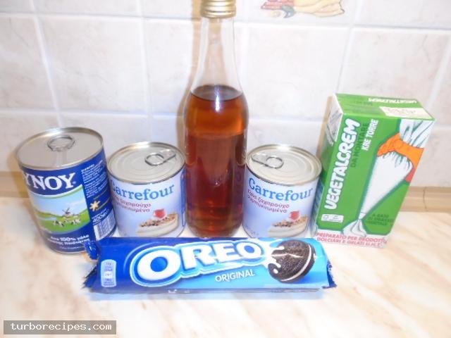 Παγωτό με μπισκότα oreo - Υλικά συνταγής