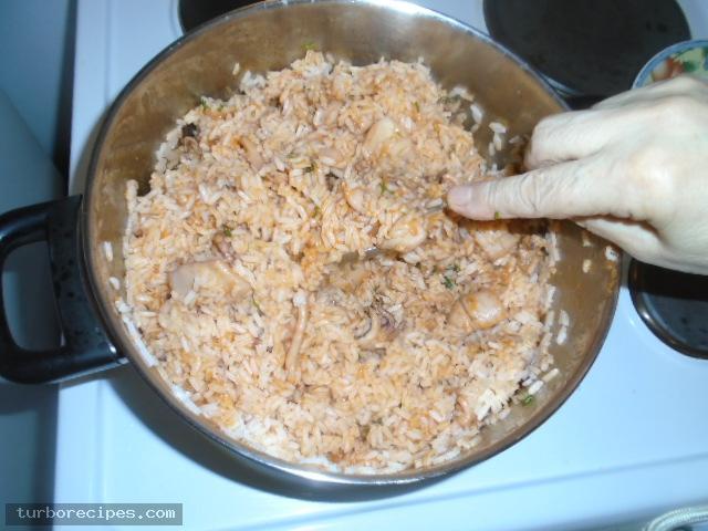 Σουπιές με ρύζι - Βήμα 17